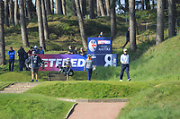 Thongchai Jaidee (THA) and Edoardo Molinari (ITA) on the 8th tee during Round 3 of the Betfred British Masters 2019 at Hillside Golf Club, Southport, Lancashire, England. 11/05/19<br /> <br /> Picture: Thos Caffrey / Golffile<br /> <br /> All photos usage must carry mandatory copyright credit (&copy; Golffile | Thos Caffrey)