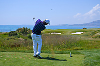 Thomas Aiken (RSA) on the 7th green during Round 3 of the Rocco Forte Sicilian Open 2018 played at Verdura Resort, Agrigento, Sicily, Italy on Saturday 12th May 2018.<br /> Picture:  Thos Caffrey / www.golffile.ie<br /> <br /> All photo usage must carry mandatory copyright credit (&copy; Golffile   Thos Caffrey)