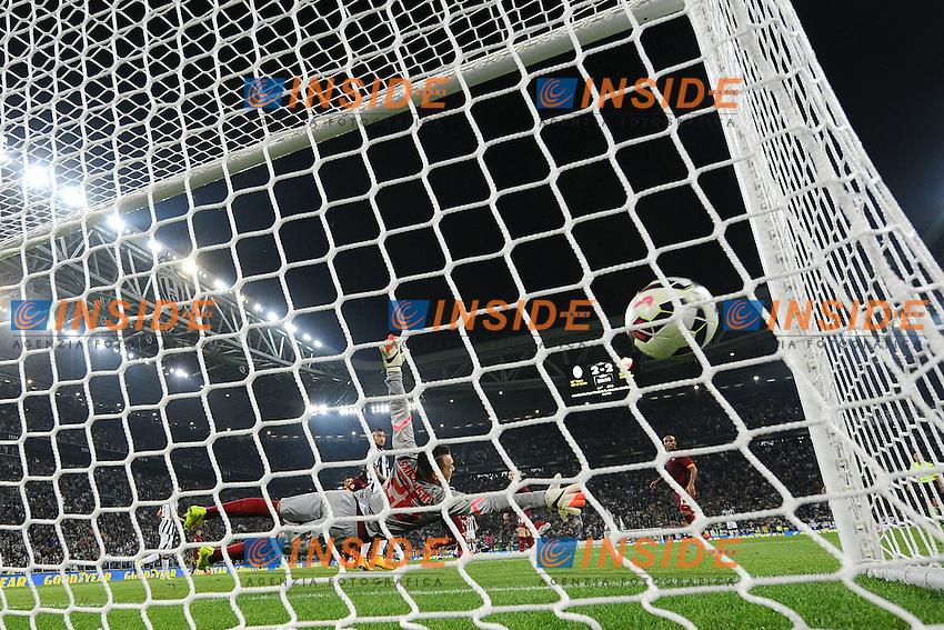 Gol Leonardo Bonucci Juventus 3-2 Goal celebration <br /> Torino 05-10-2014 Juventus Stadium, Football Calcio Serie A Juventus - AS Roma. Foto Andrea Staccioli / Insidefoto