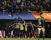 BUENOS AIRES, ARGENTINA, 24.10.2018 - BOCA JUNIORS-BUENOS AIRES, ARGENTINA, 24.10.2018 - BOCA JUNIORS-PALMEIRAS - Darío Benedetto do Boca Juniors celebra seu gol durante partida contra o Palmeiras, válida pelas semifinais da Copa Libertadores 2018, no Estádio La Bombonera, em Buenos Aires, na Argentina, nesta quarta-feira (24). (Foto: Juan Amélio/Brazil Photo Press)