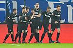 20.01.2018,  GER; 1.FBL Hamburger SV vs 1. FC Koeln, im Bild Simon Terodde (Koeln #09) schiesst das 1-0 fuer Koeln und jubelt mit der Mannschaft Foto © nordphoto / Witke *** Local Caption ***