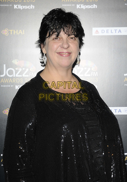 Liane Carroll.attended the Jazz FM Awards 2013, One Marylebone, Marylebone Rd., London, England, 31st January 2013..half length black sequined sequin  lace top jacket .CAP/CAN.©Can Nguyen/Capital Pictures.