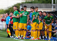 Preston North End subs prepare to enter the field<br /> <br /> Photographer Alex Dodd/CameraSport<br /> <br /> Football Pre-Season Friendly - Chorley v Preston North End - Tuesday July 16th 2019  - Victory Park - Chorley<br /> <br /> World Copyright © 2019 CameraSport. All rights reserved. 43 Linden Ave. Countesthorpe. Leicester. England. LE8 5PG - Tel: +44 (0) 116 277 4147 - admin@camerasport.com - www.camerasport.com