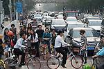Shared bikes Rush-hour Traffic Shanghai China