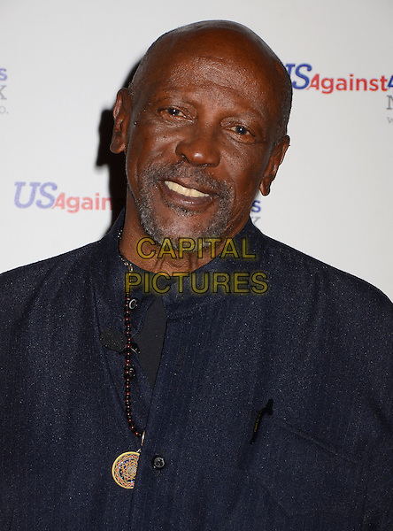 Lou Gossett, Jr. <br /> Los Angeles premiere of &quot;Surviving Grace&quot; at the Stephen J. Ross Theater on the Warner Bros. Studios lot in Burbank, California, USA.<br /> September 25th, 2013<br /> headshot portrait black jacket blue goatee facial hair<br /> CAP/ADM/BT<br /> &copy;Birdie Thompson/AdMedia/Capital Pictures