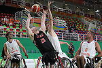 Mitsugu Chiwaki (JPN),<br /> SEPTEMBER 10, 2016 - Wheelchair Basketball : <br /> Preliminary Round Group A<br /> match between Japan - Netherlands<br /> at Rio Olympic Arena<br /> during the Rio 2016 Paralympic Games in Rio de Janeiro, Brazil.<br /> (Photo by Shingo Ito/AFLO)