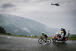 Simon Yates (GBR) Mitchelton-Scott climbs Prat d'Albis in the lead during Stage 15 of the 2019 Tour de France running 185km from Limoux to Foix Prat d'Albis, France. 20th July 2019.<br /> Picture: ASO/Pauline Ballet | Cyclefile<br /> All photos usage must carry mandatory copyright credit (© Cyclefile | ASO/Pauline Ballet)