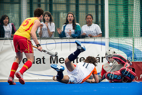 2013 Hockey 4 Nations Men U18 Easter Tournament Spain V Holland Mar