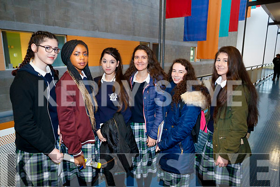 Vicky Perry, Precious Dike, Lisa Radulescu, Suzanna Hoxha, Amanda Murphy, Michaela Ryan, Presentation Secondary School, Tralee, students pictured at IT Tralee Open Day on Friday last.