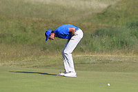 Christo Lamprecht (RSA) on the 15th green during Round 4 of the East of Ireland Amateur Open Championship 2018 at Co. Louth Golf Club, Baltray, Co. Louth on Monday 4th June 2018.<br /> Picture:  Thos Caffrey / Golffile<br /> <br /> All photo usage must carry mandatory copyright credit (&copy; Golffile | Thos Caffrey)