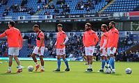 Blackburn Rovers squad during the pre-match warm-up <br /> <br /> Photographer Kevin Barnes/CameraSport<br /> <br /> The EFL Sky Bet Championship - Blackburn Rovers v Millwall - Saturday September 14th 2019 - Ewood Park - Blackburn<br /> <br /> World Copyright © 2019 CameraSport. All rights reserved. 43 Linden Ave. Countesthorpe. Leicester. England. LE8 5PG - Tel: +44 (0) 116 277 4147 - admin@camerasport.com - www.camerasport.com