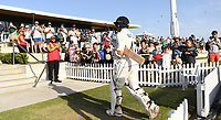 23rd November 2019; Mt Maunganui, New Zealand;  BJ Watling at the end of play on Day 3, 1st Test match between New Zealand versus England. International Cricket at Bay Oval, Mt Maunganui, New Zealand.  - Editorial Use