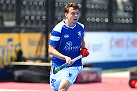 Scotlands Edward Greaves during the Hockey World League 9th and 10th placing match between Korea and Scotland at the Olympic Park, London, England on 22 June 2017. Photo by Steve McCarthy.