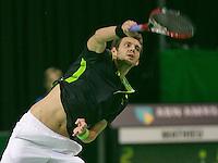 08-02-14Netherlands,RotterdamAhoy ABNAMROWTT  Paul-Henry Mathieu (FRA)<br /> Tennisimages/Henk Koster
