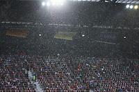 Hagelschauer senkt sich auf das Stadion nieder - 02.06.2018: Österreich vs. Deutschland, Wörthersee Stadion in Klagenfurt am Wörthersee, Freundschaftsspiel WM-Vorbereitung
