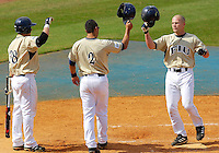 Florida International University Golden Panthers versus the Wagner College Seahawks at University Park Stadium, Miami, Florida on Saturday, March 3, 2007.  The Golden Panthers soundly defeated the Seahawks, 14-2...Senior catcher/outfielder Cody Jacobs (8)