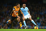 Hull's Isaac Hayden and Fabian Delph of Manchester City - Manchester City vs Hull City - Capital One Cup - Etihad Stadium - Manchester - 01/12/2015 Pic Philip Oldham/SportImage