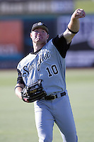 June 24 2007: Ben Copeland of the San Jose Giants before game against the Inland Empire 66'ers at Arrowhead Credit Union Park in San Bernardino,CA.  Photo by Larry Goren/Four Seam Images