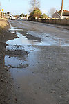 Potholes on the Cement Road...(Photo credit should read Jenny Matthews/www.newsfile.ie)....This Picture has been sent you under the conditions enclosed by:.Newsfile Ltd..The Studio,.Millmount Abbey,.Drogheda,.Co Meath..Ireland..Tel: +353(0)41-9871240.Fax: +353(0)41-9871260.GSM: +353(0)86-2500958.email: pictures@newsfile.ie.www.newsfile.ie.