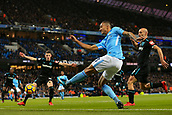 3rd December 2017, Etihad Stadium, Manchester, England; EPL Premier League football, Manchester City versus West Ham United; Danilo of Manchester City  crosses the ball into the box