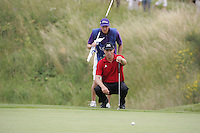 Soren Hansen lines up his putt on the 14th green during the 3rd round of the 2008 Open de France Alstom at Golf National, Paris, France June 28th 2008 (Photo by Eoin Clarke/GOLFFILE)