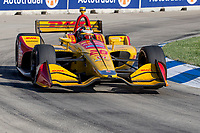 Ryan Hunter-Reay, #28 Honda, action, Detroit Grand Prix, IndyCar race, Belle Isle, Detroit, MI, June 2018.(Photo by Brian Cleary/bcpix.com)