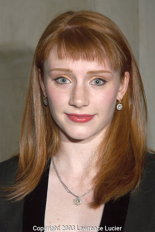 NEW YORK-JANUARY 9: Actress Bryce Dallas Howard arrives at the afterparty for the opening night of the play Tartuffe January 9, 2003, in New York City.
