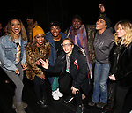 "Taylor Symone Jackson, Marie Woods, Nasia Thomas, Danielle Brooks, Dascha Polanco, Rashidra Scott and Natasha Lyonne backstage after a performance of ""Ain't Too Proud"" at the Imperial Theatre on April 11, 2019 in New York City."