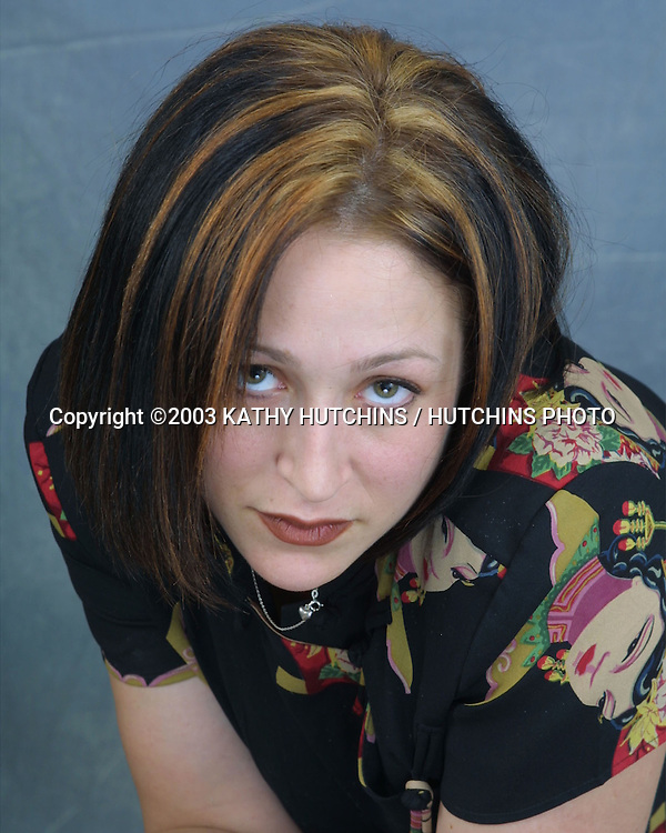 """©2003 KATHY HUTCHINS / HUTCHINS PHOTO.EXCLUSIVE STUDIO SESSION.WITH CAST OF """"FISH WITHOUT A BICYCLE"""" .BURBANK, CA.JULY 26, 2003..JENNIFER BLANC"""