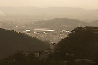 A General View of the Maracana Stadium and surrounding Favelas