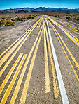 Test striping on an abandoned paved road, Luning, Nev.<br /> <br /> (The road to Area 51)
