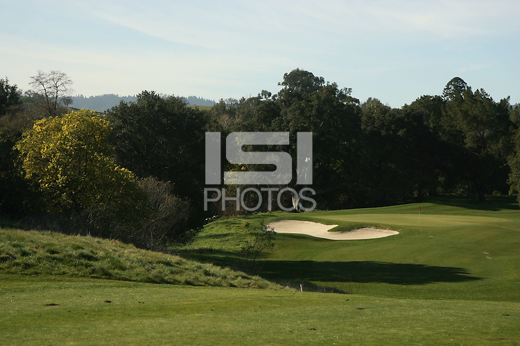 15 February 2007: Photographs of Hole number three at the Stanford Golf Course in Stanford, CA.