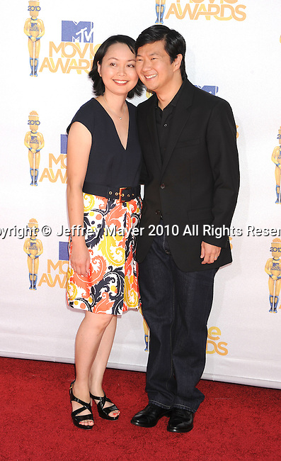 UNIVERSAL CITY, CA. - June 06: Tran Jeong and Ken Jeong arrive at the 2010 MTV Movie Awards at Gibson Amphitheatre on June 6, 2010 in Universal City, California.