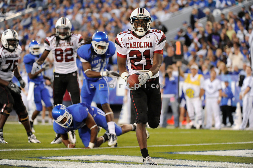 MARCUS LATTIMORE, of South Carolina,  in action during the their game against Kentucky  on October 16, 2010 at Memorial Stadiium in Bloomington...Kentucky beats South Carolina 31-28