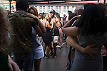MABONENG, SOUTH AFRICA - MARCH 20: Visitors enjoy dancing salsa at the Sunday market on main in Maboneng district on March 20, 2016 in downtown Johannesburg, South Africa. A former derelict industrial area, and a no-go area after dark, it is now a vibrant area with artists, businesses, galleries and tourists. A racially mixed cultural hub with markets on the weekend. Maboneng is the idea of young entrepreneur Jonathan Liebmann, and he owns and controls most of the buildings in the area. (Photo by Per-Anders Pettersson/Getty Images)