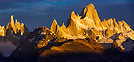 The Cerro Torre group and Mount Fitz Roy, Los Glaciares National Park, Argentina