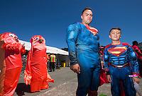 Fans on Day Two during the 2016 HSBC Wellington Sevens at Westpac Stadium, Wellington, New Zealand on Sunday, 31 January 2016. Photo: Joseph Johnson / lintottphoto.co.nz