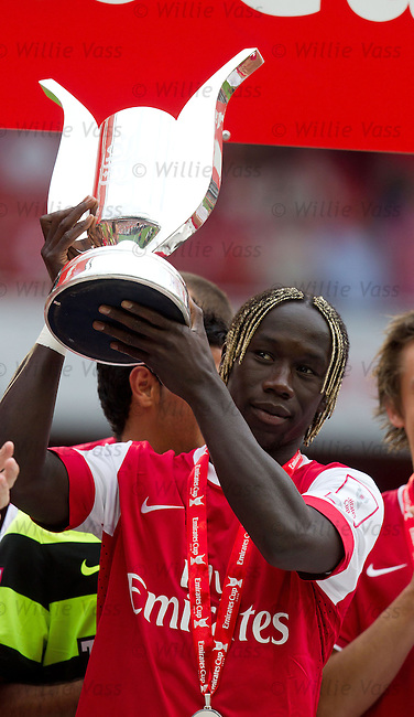 Bacary Sagna with the Emirates Cup
