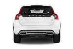 Straight rear view of a 2015 Volvo V60 T5 Cross Country AWD 4 Door Wagon Rear View  stock images