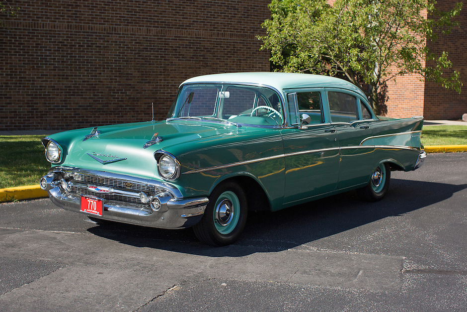 1957 Restored Senior (#95) – 1957 Chevrolet 210 2-Door Sedan registered to Mike Strand is pictured during 4th State Representative Chevy Show on Thursday, June 30, 2016, in Fort Wayne, Indiana. (Photo by James Brosher)