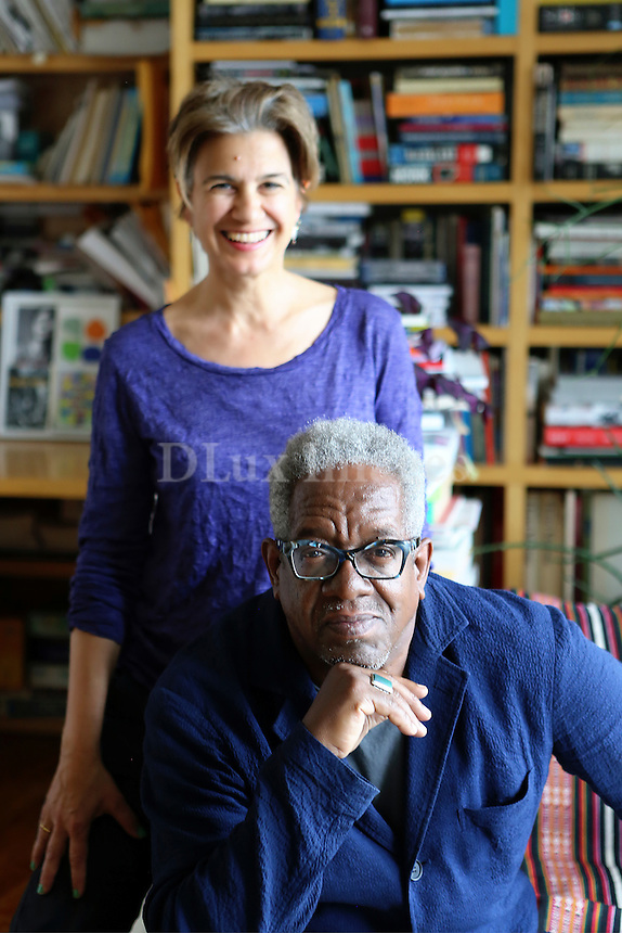 portrait of Stanley Whitney and Marina Adams