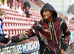 Daniel Cousin at East End Park as he arrives to sign for Rangers