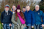 L-R Colin Stack, Ian Guerin, Lauryn Goggin, Kevin Guerin, Robert Stack and Willie Guerin at the Banna Beach Resort Winter stages rally organised by Kerry Motor Club last Sunday.