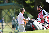 Peter Uihlein (USA) shakes hands with his caddie during Round Three at the 2013 ISPS Handa Wales Open from the Celtic Manor Resort, Newport, Wales. Picture:  David Lloyd / www.golffile.ie