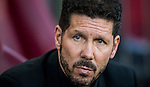 Coach Diego Simeone of Club Atletico de Madrid looks on prior to the La Liga match between Club Atletico de Madrid and Malaga CF at the Estadio Vicente Calderón on 29 October 2016 in Madrid, Spain. Photo by Diego Gonzalez Souto / Power Sport Images