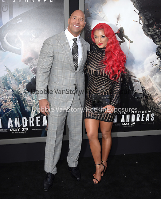 Dwayne Johnson and Eva Maria attends The Warner Bros. Pictures World Premiere of San Andreas held at the TCL Chinese Theatre  in Hollywood, California on May 26,2015                                                                               © 2015 Hollywood Press Agency