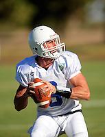 Sept. 16, 2009; Casa Grande, AZ, USA; California Redwoods quarterback (8) Mike McMahon during training camp at the Casa Grande Training Facility & Performance Institute. Mandatory Credit: Mark J. Rebilas-