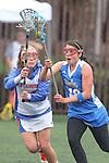 Santa Barbara, CA 02/19/11 - Allie Simpson (UCLA #42) and Taylor Leffler (Florida #13) in action during the UCLA-Florida game at the 2011 Santa Barbara Shootout.