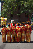 Chinese Girls Drill Team, Dragon Fest 2015, Chinatown, Seattle, Washington, USA