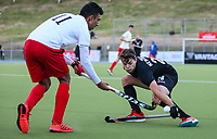 Dominic Newman. International Hockey, Blacksticks men v Canada. Warkworth Hockey Turf, Warkworth, Auckland, New Zealand. Thursday 18 October 2018. Photo: Simon Watts/ Hockey NZ